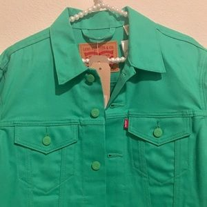 NEW Levi Green Jean Jacket